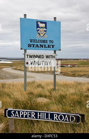 Port Stanley auf den Falklandinseln (Malwinen) - Stockfoto