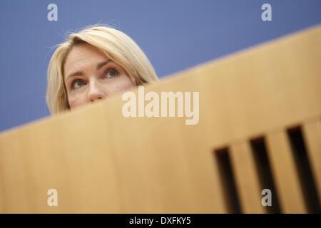Berlin, Deutschland. 25. März 2014. Heiko Maas, Bundesminister für Justiz und Verbraucherschutz Protectionand und - Stockfoto