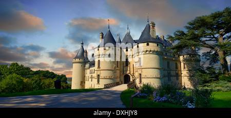 15. Jahrhundert Schloss Château de Chaumont, von Catherine de Medici im Jahr 1560 erworben. Chaumont-Sur-Loire, - Stockfoto