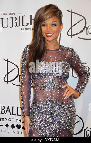 """Las Vegas, Nv, USA 29. März 2014: Chante Moore in die Teilnahme an Donn Ardens """"Jubilee"""" große Wiedereröffnung im - Stockfoto"""