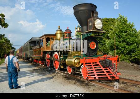 Oldtimer Dampflokomotive Lokomotive Replik - Stockfoto