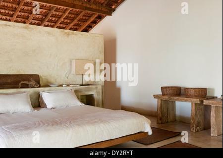 Goan Strand Haus Schlafzimmer, Indien - Stockfoto