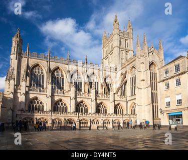 Die Abbey Church of Saint Peter and Saint Paul, Bad, allgemein bekannt als Abteikirche von Bath, Somerset England - Stockfoto