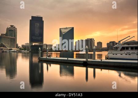 Yacht-Pier in Dubai Abra - Stockfoto