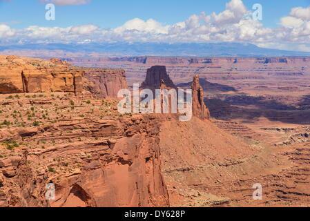 Ansicht der Waschfrau Arch, Inseln in den Himmel, Canyonlands National Park, Utah, Vereinigte Staaten von Amerika, - Stockfoto