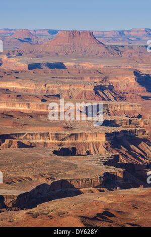 Green River Overlook, Inseln im Himmel Teil des Canyonlands National Park, Utah, Vereinigte Staaten von Amerika, - Stockfoto