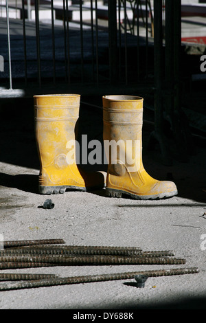 Alamy Gummistiefel In StockfotoBild281806094 In Bauarbeiter Bauarbeiter 35FcT1JulK