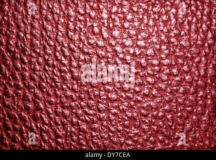 Rotem Leder Hintergrund oder Textur Lederstruktur. - Stockfoto