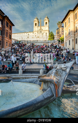 Die spanische Treppe, Rom, Italien - Stockfoto