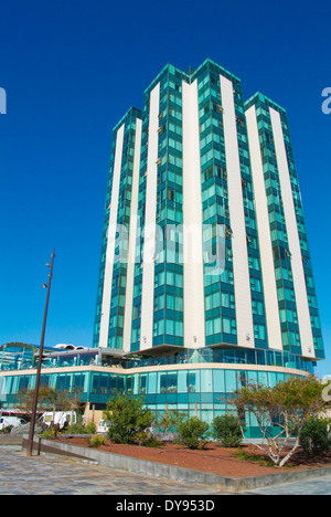 Gran Hotel, Playa del Reducto Strand, Arrecife, Lanzarote, Kanarische Inseln, Spanien, Europa - Stockfoto