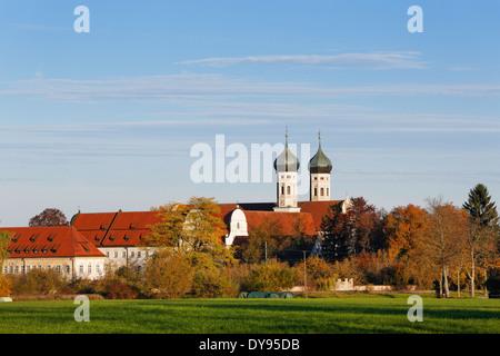Deutschland, Bayern, Ansicht von Benediktbeuren Kloster - Stockfoto