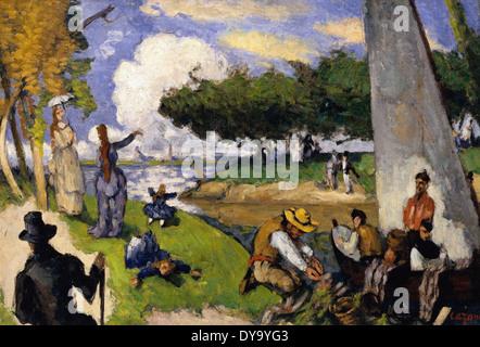 Paul Cézanne die Fischer (fantastische Szene) Stockfoto