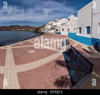 Spanien, Europa, Fuerteventura, Kanarische Inseln, Las Playitas, Promenade, Dorf, Wasser, Sommer, Meer, - Stockfoto
