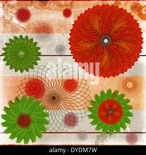 Dekorative Karte oder abstrakten Hintergrund mit floralen Blatt-Muster