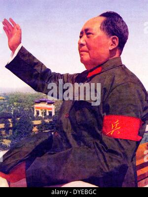 Mao Ze Dung 1893-1976. Führer der kommunistischen Partei Chinas und chinesischer Führer 1949-1976 Überprüfung Rote - Stockfoto