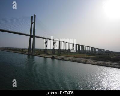 Die Suez Canal Bridge, Ägypten - Stockfoto