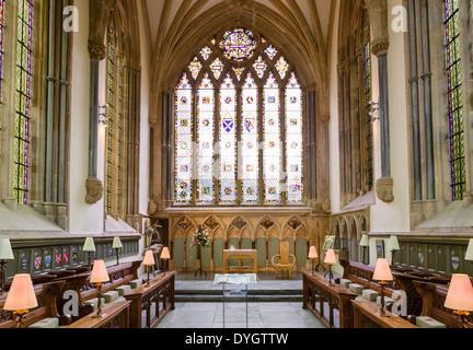 Der Bischof-Kapelle in der Bischöflichen Palast, Wells, Somerset, England, UK - Stockfoto