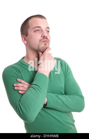 junger Mann denken - Stockfoto