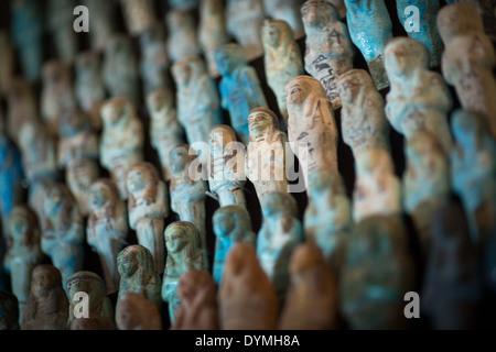 Manchester Museum in Manchester Universität Ushabits-Sammlung auf dem display - Stockfoto