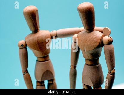 Trost: Abbildung legt Arm um die Schulter, London - Stockfoto