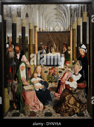 Workshop von Geertgen Tot Sint Jans (c. 1455/65-1485/95). Der Heiligen Sippe, c. 1495. Rijksmuseum. Amsterdam. Holland. - Stockfoto