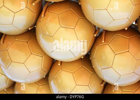 Fußball-Kugeln-Hintergrund - Stockfoto