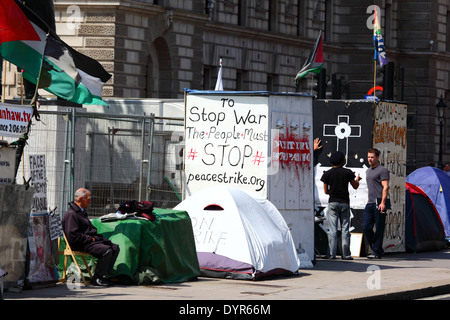 Brian Haw Peace Camp, Parliament Square, Westminster, London - Stockfoto