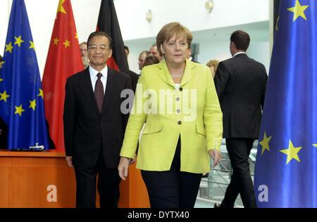 Wen Jiabao und Merkel - Stockfoto