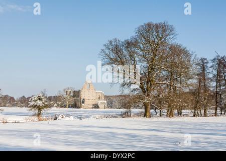 Newark Priory, Ruinen Kloster in der Nähe von Pyrford, Surrey, zerstört durch Henry VIII in der Auflösung der englischen - Stockfoto