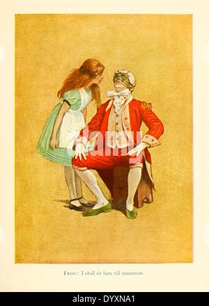 """Alice und der Lackei Frosch aus für die 1915 Bühne Adaption von """"Alice im Wunderland"""" von Lewis Carroll, Abbildung - Stockfoto"""