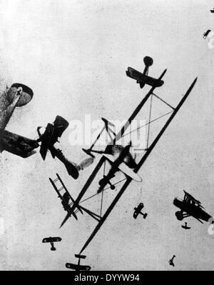 Luftkampf über der Westfront 1918 - Stockfoto