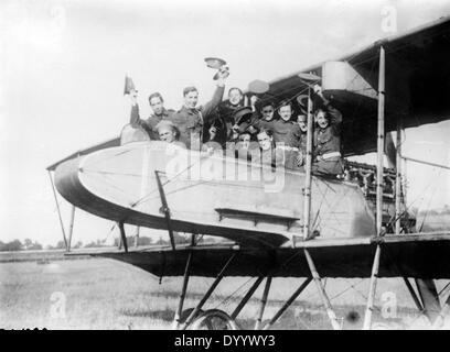 Kunstkarte Britische Flugzeuge im Ersten Weltkrieg