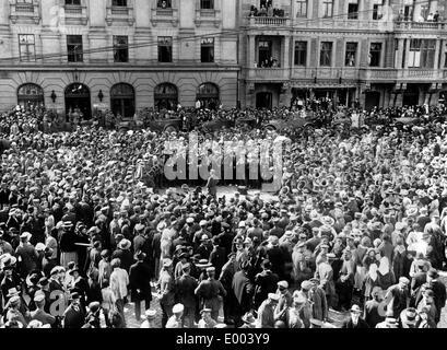 Militärische Konzert in Riga, 1917 - Stockfoto