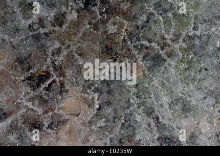 Eis-Textur-Nahaufnahme mit bubbles - Stockfoto