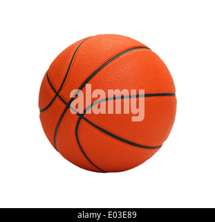 Orange Basketball, Isolated on White Background. - Stockfoto