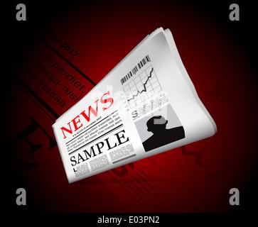 Nachrichten in der Zeitung
