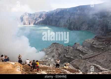 Landschaft der Kawah Ijen, Ost-Java, Indonesien - Stockfoto
