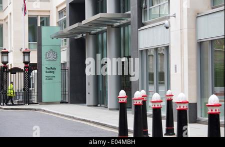Rollen-Gebäude High Court Königliche Gerichtshöfe - Stockfoto