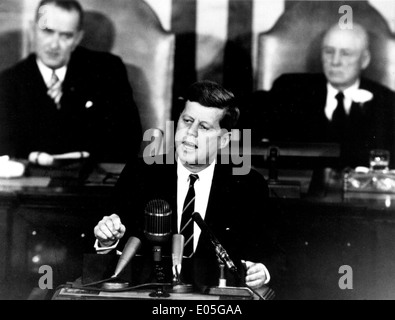 Kennedy historische Rede an den Kongress - Stockfoto