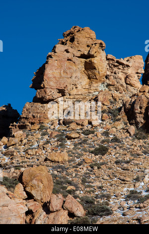 Felsformation, Parque Nacional del Teide, Spanien, Teneriffa - Rock-Formation, Parque Nacional del Teide, Teneriffa, - Stockfoto