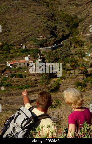 Dorf Benchijigua, La Gomera, Kanarische Inseln, Spanien - Stockfoto