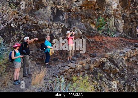 Los Toscas. Santiago-Schlucht zu Fuß.  La Gomera, Provinz Santa Cruz De Tenerife. Kanarischen Inseln. Spanien. Europa - Stockfoto