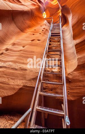 Ansicht der Antelope Canyon Ausfahrt, Seite, USA - Stockfoto