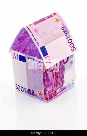 ein haus von euro banknoten und ein infrarot bild bausparkasse h user zu bauen und ein haus zu. Black Bedroom Furniture Sets. Home Design Ideas