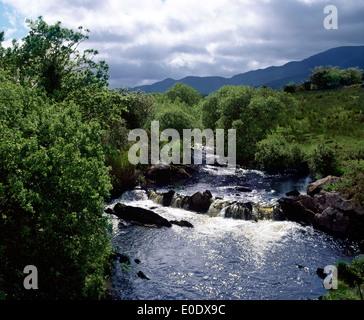 Kleinen Fluss in der Nähe von Sneem, County Kerry, Irland - Stockfoto