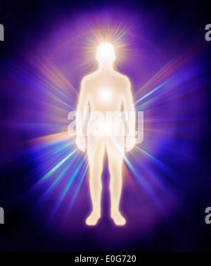 mann feinstofflicher k rper energie emanationen leuchtende mensch aura spirituelle. Black Bedroom Furniture Sets. Home Design Ideas