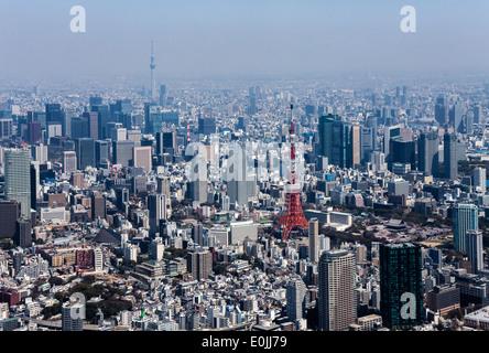Luftaufnahme von Tokio - Stockfoto