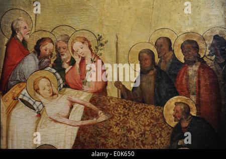 Nahen Sie Rhein Altar, ca. 1410. Detail. Tod von Mary. Catharijneconvent Museum. Utrecht. Niederlande.