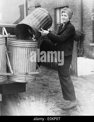 Frau, die im zweiten Weltkrieg - Stockfoto