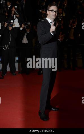 Cannes, Frankreich. 16. Mai 2014. Jury-Mitglied und dänische Regisseur Nicolas Winding Refn kommt zur Premiere des - Stockfoto